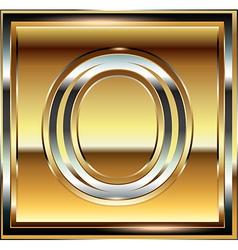 Ingot Font Letter O vector