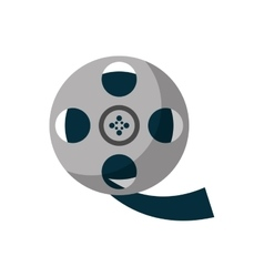 Isolated cinema film reel design vector