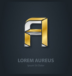 Letter a template for company logo 3d design vector