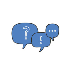 linear question mark and exclamation mark in chat vector image