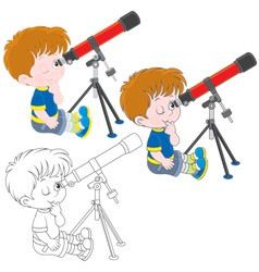 Little astronomer vector
