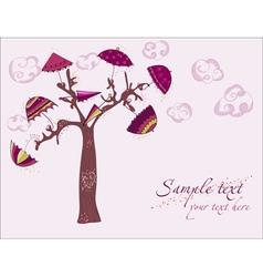 love tree under umbrellas vector image