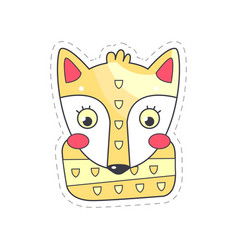 lovely fox colorful cloth patch applique vector image