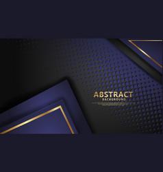 Luxury dark blue and black overlap layers vector