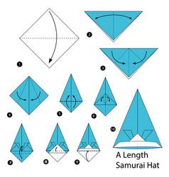 Make origami a length samurai hat vector