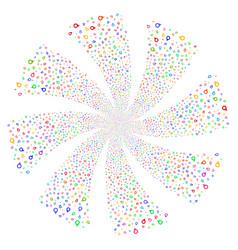 Map marker fireworks swirl rotation vector