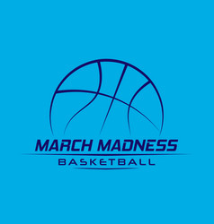 March madness basketball vector