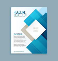 Modern business brochure template flyer vector
