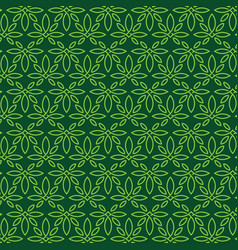 Modern professional pattern ornament in cannabis vector