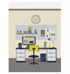 Modern room vector image