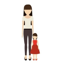 mother and daughter design vector image