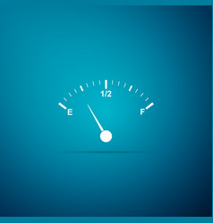 Motor gas gauge icon isolated on blue background vector
