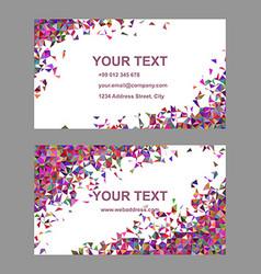Multicolor chaotic triangle business card design vector