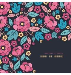 Night Kimono Blossom Corner Decor Pattern vector