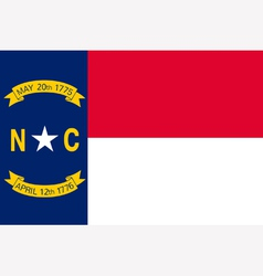 North Carolinian state flag vector