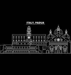 Padua silhouette skyline italy - padua vector