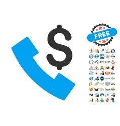 Payphone Icon With 2017 Year Bonus Symbols vector