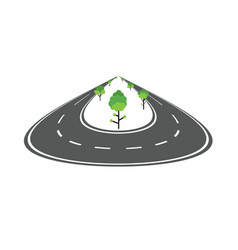 perspective rounded road concept vector image