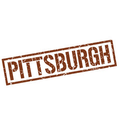Pittsburgh brown square stamp vector
