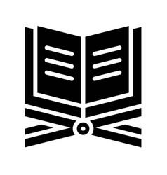Quran ramadan related solid icon vector