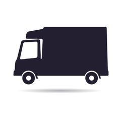 Refrigerator truck icon vector image