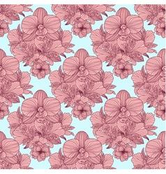 Seamless retro flower pattern vector image