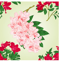 Seamless texture rhododendrons twigs vector
