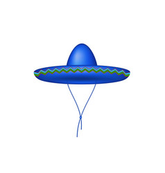 sombrero hat in blue design vector image