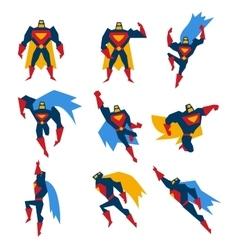 Superman Poses Set vector image