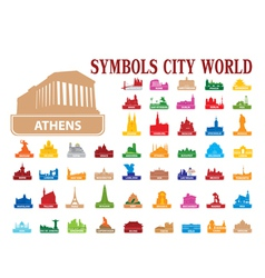 symbols city world vector image