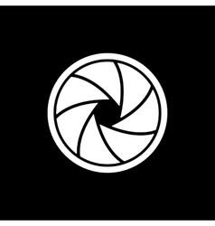 The diaphragm icon Aperture symbol vector image
