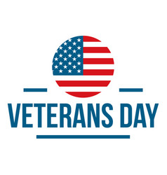 Us veterans day logo flat style vector