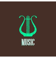Vintage with harp vector