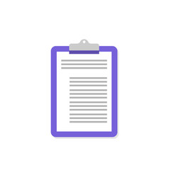violet clipboard icon on empty background vector image