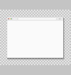 web browser window computer or internet frame vector image