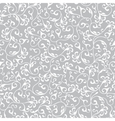 White floral seamless lace pattern vector