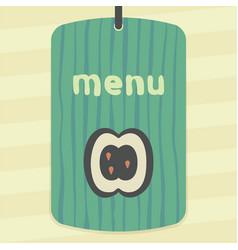 Apple slice fruit icon modern infographic logo vector