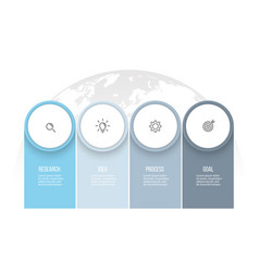 business infographics presentation with 4 columns vector image vector image