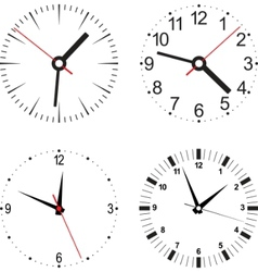 clock numbers vector image vector image