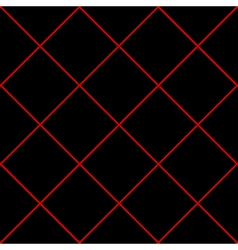 Red Grid Diamond Square Black Background vector image