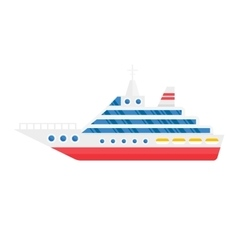 Ship cargo sea transportation vector image