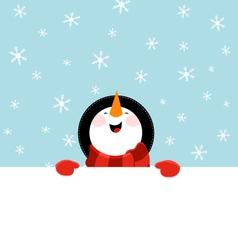 Snowman Message vector image vector image