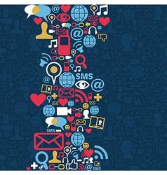 Social media network icon background vector image vector image
