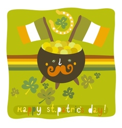 StPatricks day colorful background vector image vector image
