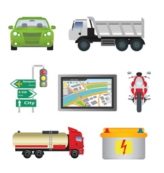transport vector image vector image