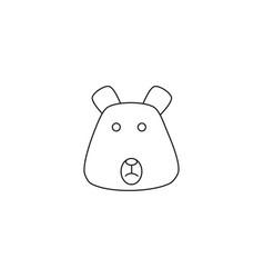 animal bear icon vector image