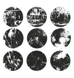 circle grunge label retro frames for emblems vector image