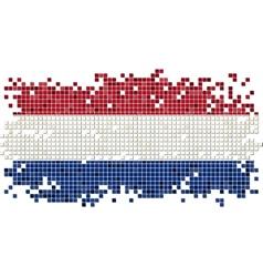 Dutch grunge tile flag vector image vector image