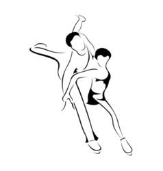 skating couple vector image vector image
