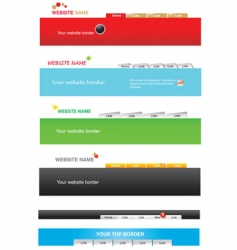 web templates vector image